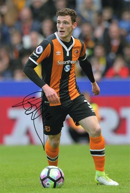 Andy Robertson, Hull City & Scotland, signed 12x8 inch photo.